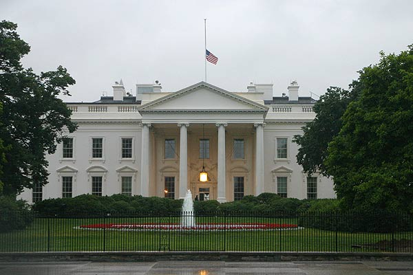Flag at half-staff at the White House. (File photo, of an earlier occasion)