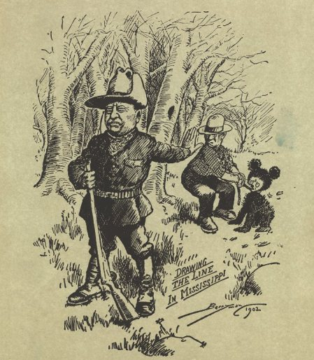 "Clifford Berryman cartoon, ""Drawing the Line in Mississippi, 1902"""