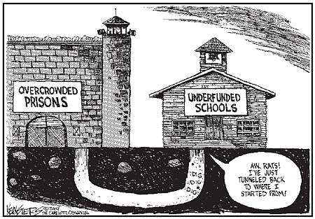 What's the difference between school and prison? | Millard Fillmore's Bathtub
