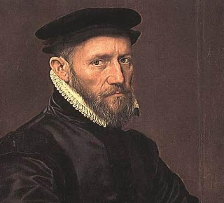 Sir Thomas Gresham (c. 1519 – 21 November 1579), British financier and advisor to Queen Elizabeth I and earlier regents. Portrait c. 1554 by Anthonis Mor