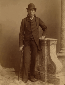 Quanah Parker in later life, as a successful businessman. Wikipedia image, public domain