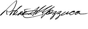 Robert Mazzuca signature