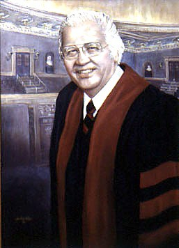 Rev. Richard C. Halverson, 1916-1995, Chaplain of the U.S. Senate; painting for the North Dakota Capitol by Ann Linton Hodge