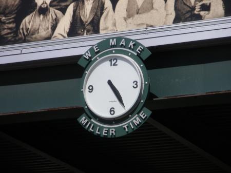 Clock on State Street, Miller Valley, Milwaukee, Wisconsin