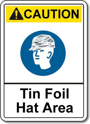 TinFoilHatArea sign