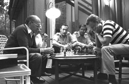 Israel's Prime Minister Menachim Begin and Carter administration National Security Advisor Zbigniew Brzezinski square off, at Camp David, Maryland - 1978