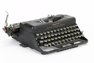 John Lennon's manual Imperial typewriter, used when he was a teenager - now owned by Steve Soboroff - Image from Playa Vista Today
