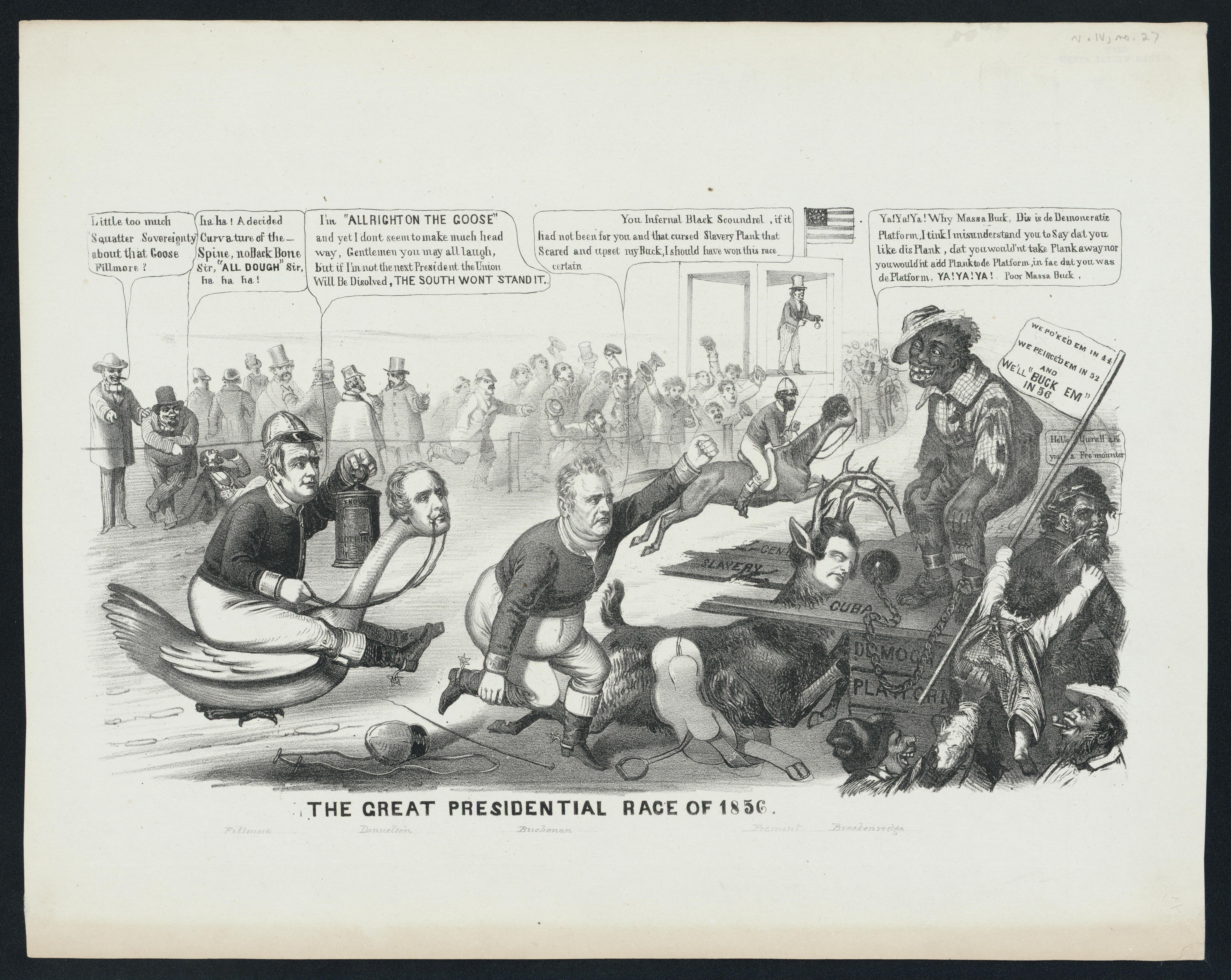 Millard Fillmore In Cartoons The Great Presidential Race