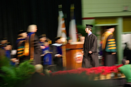 Kenny Darrell, Graduation at UT-Dallas 12-19-2009