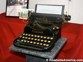 Typewriter used to answer letters to Santa Claus, from the U.S. Post Office in Santa Claus, Indiana - Roadside America photo