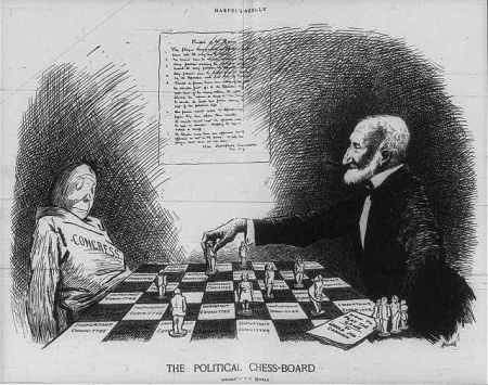 Cartoon - Cannon, Joe, The Poltiical Chessboard, Harpers 2-05-1910 - 3b23316r