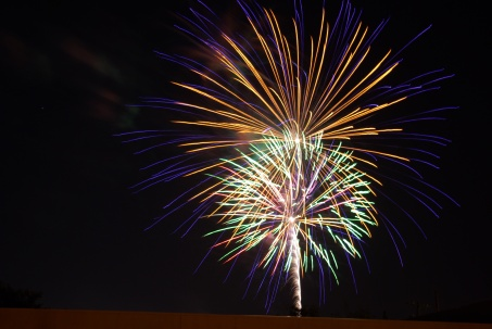 Fireworks in Duncanville, Texas, for July 4