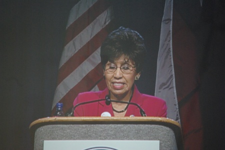 Democratic candidate for Lieutenant Gov. Linda Chavez-Thompson