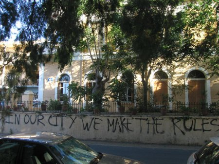 Grafitti:  In our city, we make the rules (Chania, Crete)