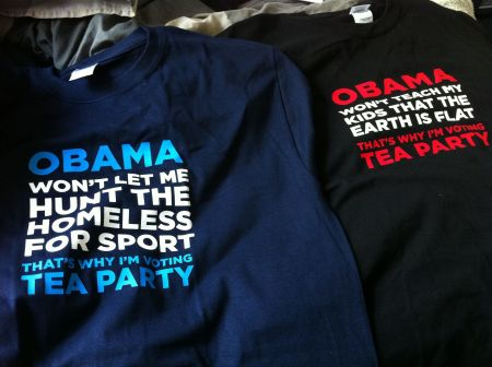 T-shirts from I'm Voting Tea Party