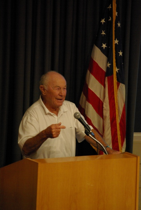 Chuck Yeager at C. R. Smith Museum, 7-25-2010 - photo by Ed Darrell