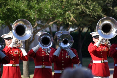 USMC Drum & Bugle Corps at Texas State Fair - Ed Darrell photo