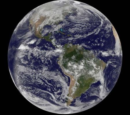 Earth full disc, December 30, 2010 - NASA, GOES