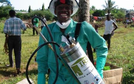 USAID-paid tools and pesticides used to prevent malaria in a campaign coordinated with the government in Tanzania. USAID photo.
