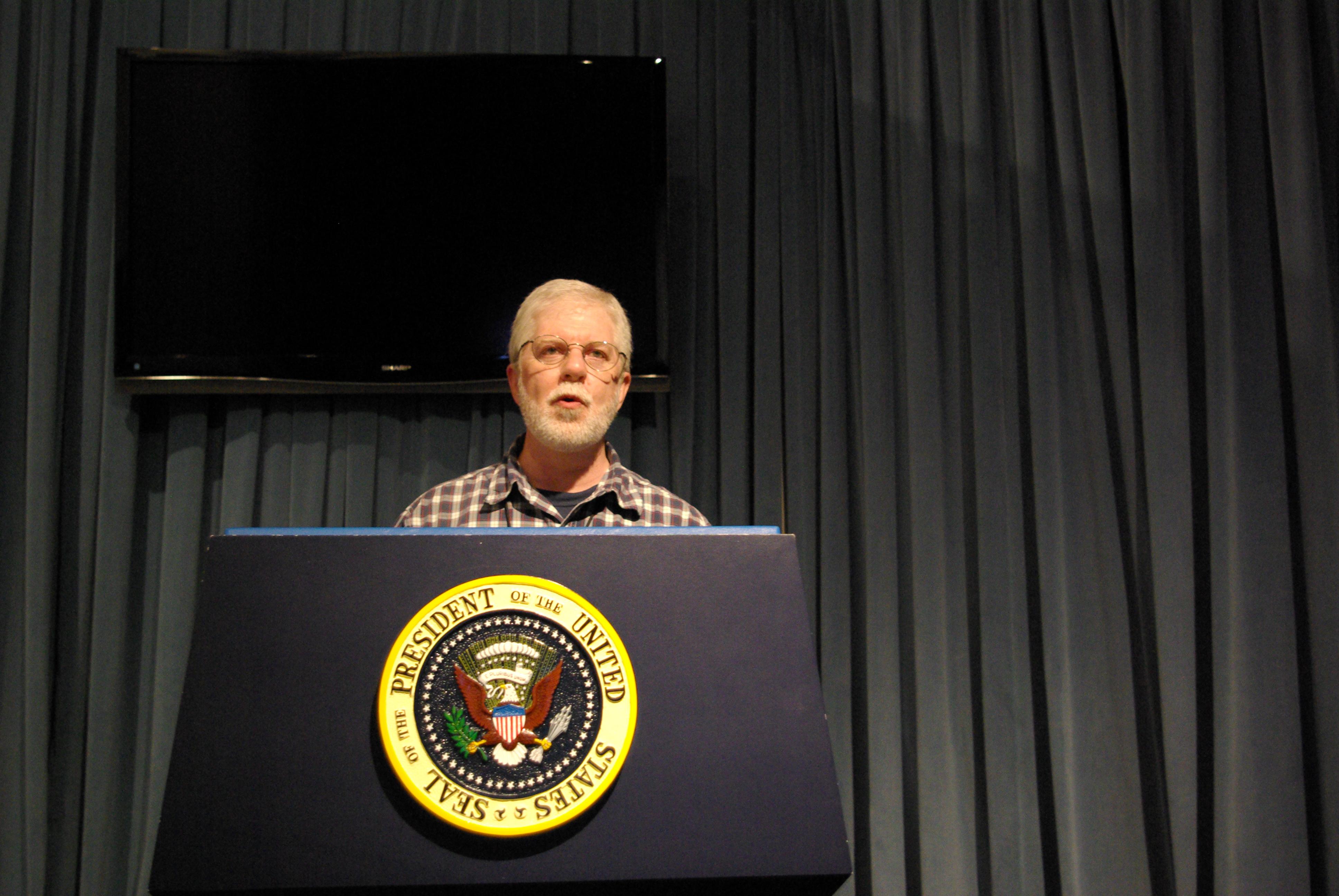 Ed Darrell, presidents on weekends