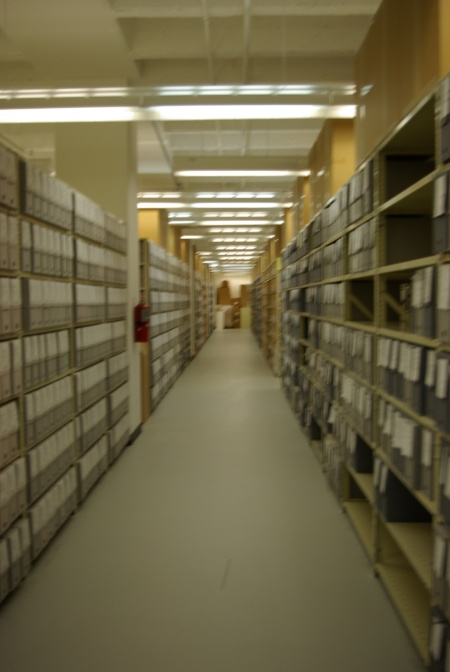 Unindexed files at the Bush I Library - 6-13-2011 1677-Photo by Ed Darrell, use permitted with attribution