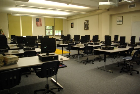 Computer classroom at Little Rock Central High, June 2011 - photo by Ed Darrell; use premitted with attribution