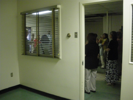 Oswald's interrogation room in the old Dallas Police Department - photo by Ed Darrell, 6th Floor Museum teachers seminar