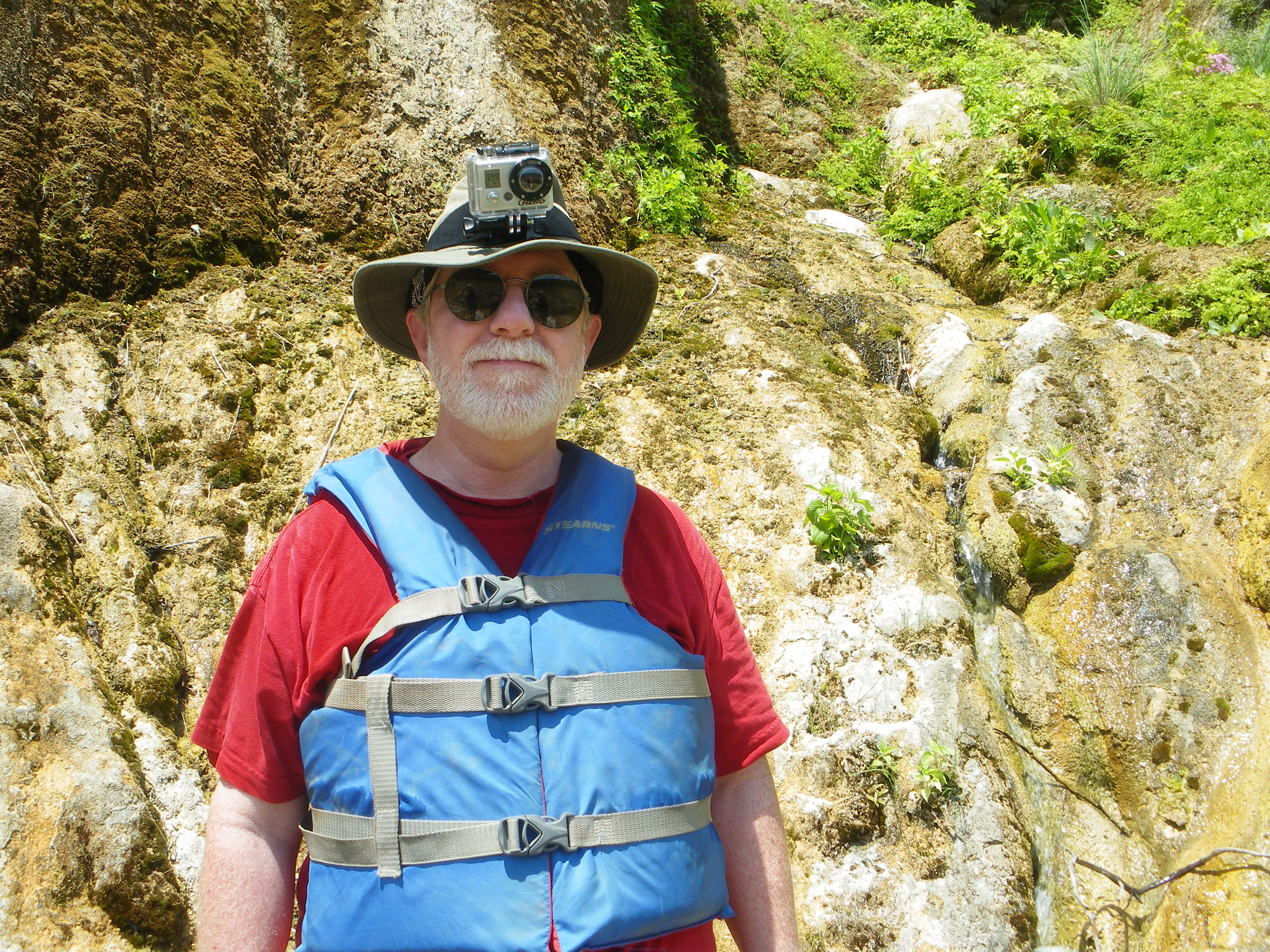 Ed Darrell at Colorado Bend State Park, Texas