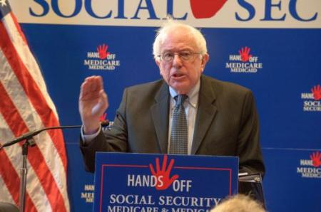 Sen. Bernie Sanders (I-Vt.) speaks to 200+ attending the Hands Off Social Security, Medicare and Medicaid Summit on Nov. 15th in Washington DC.