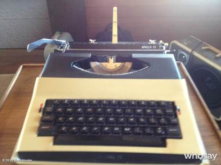 Typewriter - Tom Hanks Royal Apollo 10 1969 - Photo by Tom Hanks at WhoSay