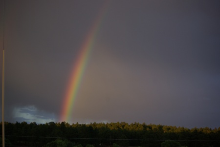 Rainbow on Elbert Road, Colorado, July 18, 2012 - photo by Ed Darrell, Creative Commons License (please attribute)