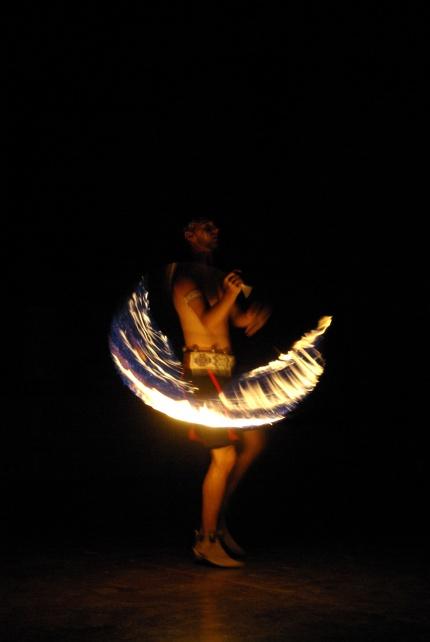 Fire Hoop Dance, Kwahadi Indian Dancers, Amarillo, Texas, 7-21-2012