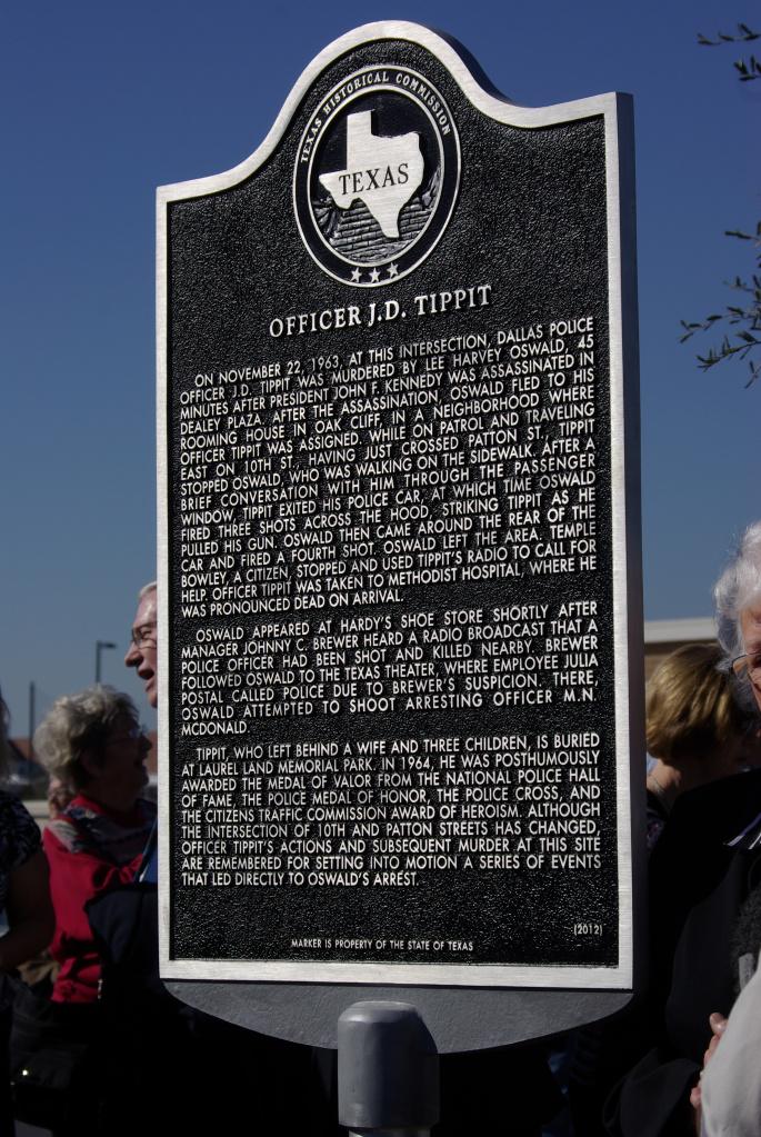 Dallas honors assassin\'s second victim, policeman J. D. Tippit ...