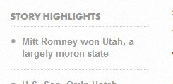 Moron state close up, USA Today Typo