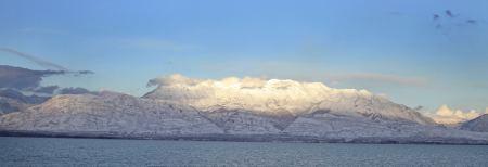 Utah's Mt. Timpanogos in snow, by Craig Clyde, 2012