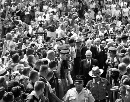 Herbert Hoover and crowd in West Branch, Iowa, 1932 - dedication of Hoover Library