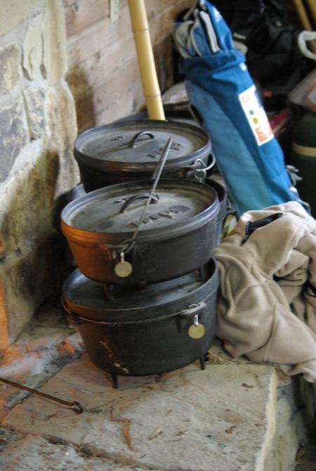 Scout Dutch ovens at Camp Wisdom