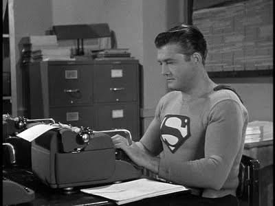 Superman typing.