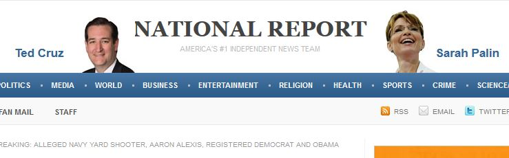 Masthead to National Report. C'mon would these guys lie to you?