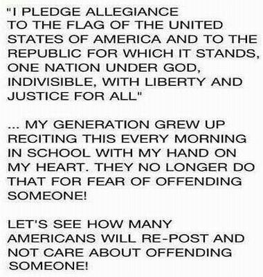 Hoax claims about the Pledge of Allegiance, found on Facebook and innumerable e-mails