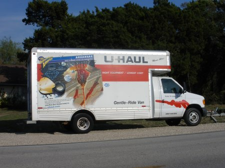 U-Haul truck features geographic information, and geology information