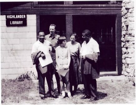 Pete Seeger, MLK , and others at Highlander School, 1957
