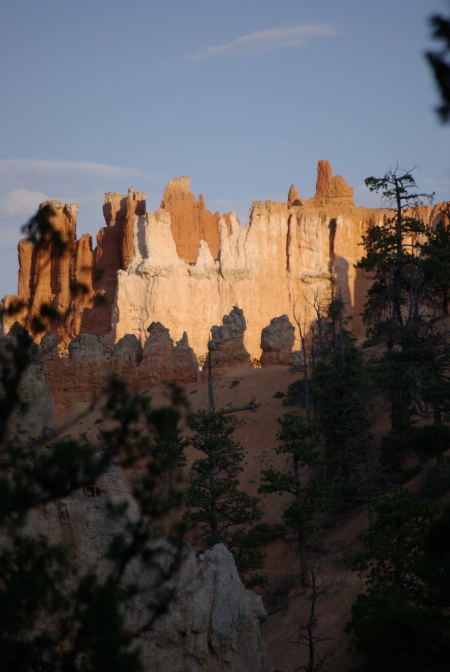 Hiking Bryce Canyon at sundown, one may see rocks in a new way, spotlighted from 93 million miles away.  Photo from 2008, by Ed Darrell