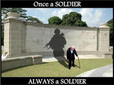 Once a soldier, always a soldier; Who created this?