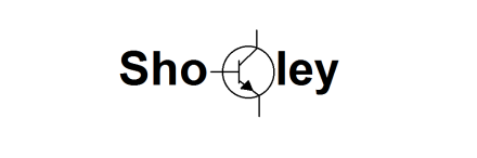 Shockley as a logo, with transistor