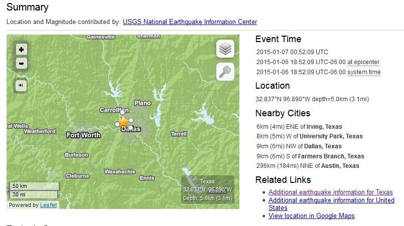 Details from USGS on biggest quake, January 6, 2014