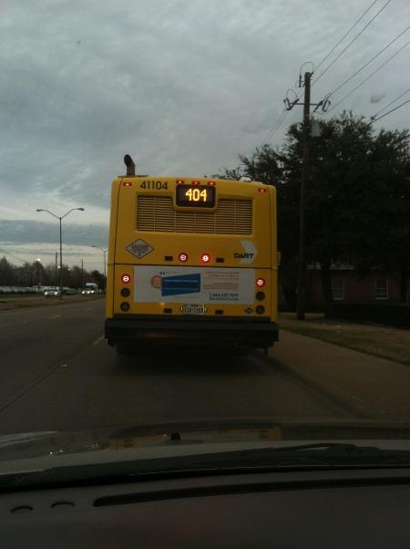 The 404 Bus - Dallas Area Rapid Transit (DART) has no wi-fi