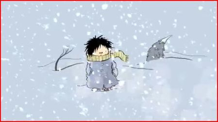 What do you do when life gives you blizzards? Image from film by FableVision