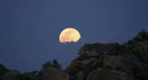 Screen capture of the Moon rise Vine video by Lian Law, National Park Service.