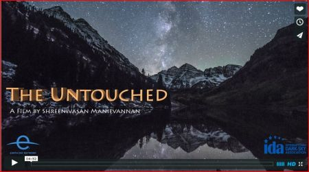"Title shot from ""The Untouched,"" a movie of time-lapse shots of U.S. National Parks."